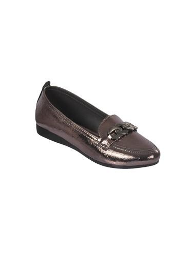 Mhd 2674 Platin Kadın Günlük Ayakkabı Gümüş